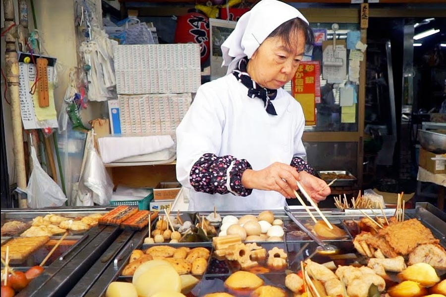 comida de calle japonesa