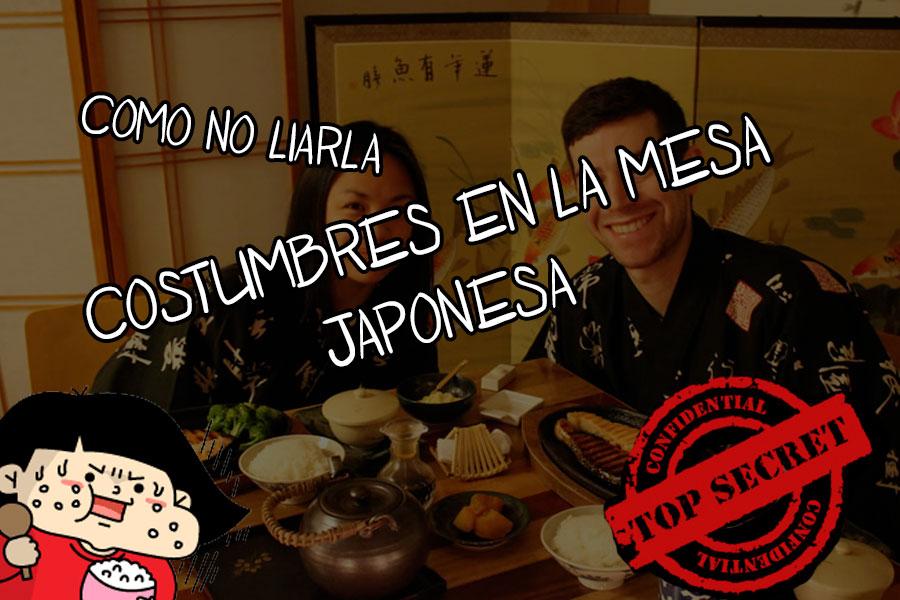 costumbres en la mesa japonesa