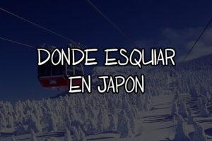 donde esquiar en japon
