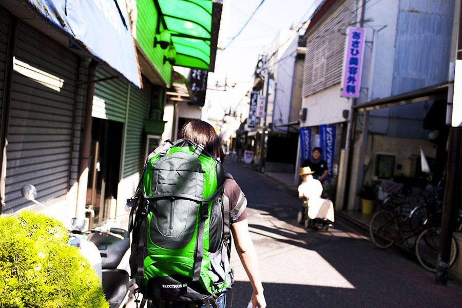 mochileros japon