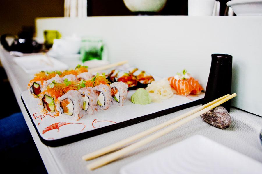 palillos japoneses comida