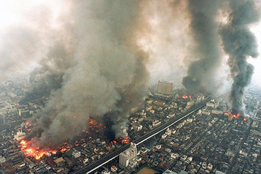 terremoto de Kobe Japon