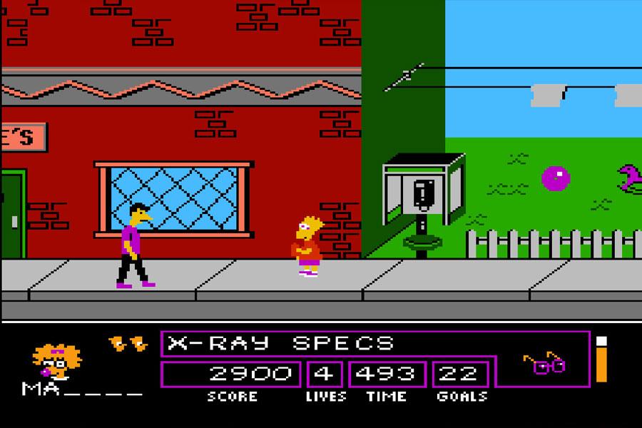 juego Simpson retro