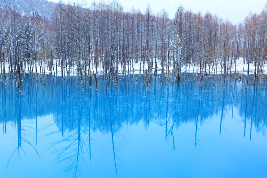 Lago azul Japón
