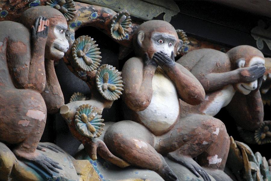 Los tres monos sabios Toshogu